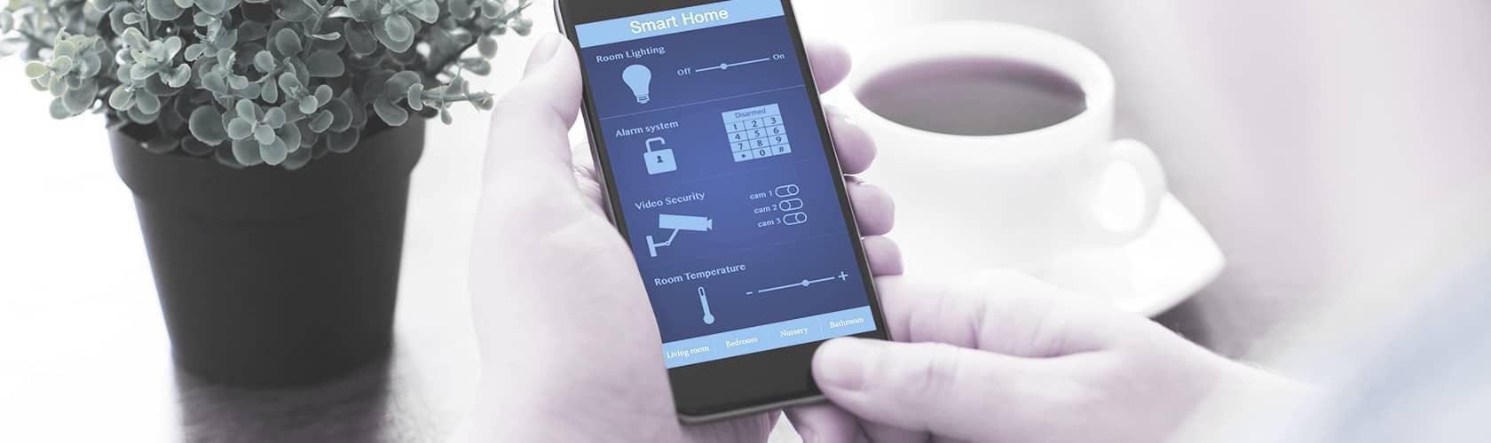 Alarmanlage gesteuert über Smartphone